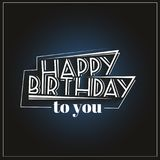 Happy birthday. Vector illustrations and objects Royalty Free Stock Photo