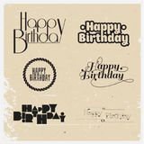 Happy birthday. Vector illustrations and objects Stock Image