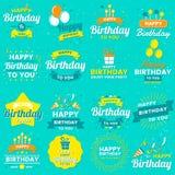 Happy Birthday Vector Logo for banner vector illustration