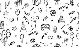 Happy Birthday vector pattern. Royalty Free Stock Photos