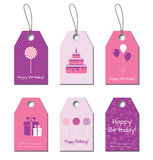 Happy Birthday vector tags, labels Stock Images