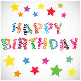 Happy Birthday Vector Royalty Free Stock Images