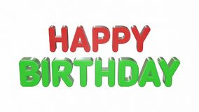 Happy Birthday  - Video. 3d stock video footage