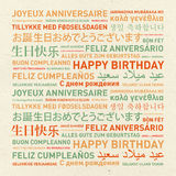 Happy birthday vintage card from the world Royalty Free Stock Image