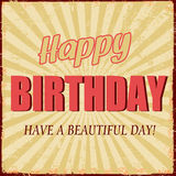 Happy Birthday vintage poster Royalty Free Stock Photos