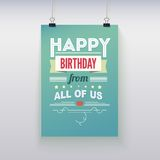 Happy Birthday, vintage poster, grunge Stock Photography