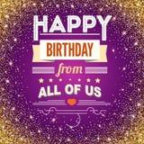 Happy Birthday, vintage poster, grunge. Happy Birthday, typography, vintage poster. Vector illustration. Stylish greetings happy birthday, creative birthday card Stock Photo