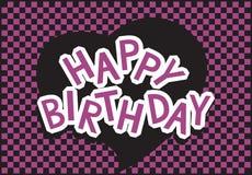 Happy birthday violet and black. Emo-style Royalty Free Stock Photo