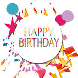 Happy birthday. White background with decoration  happy birthday Royalty Free Stock Image