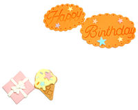 Happy birthday on white background,. Funny concept stock illustration