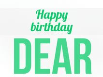 Happy birthday wish on a white background in large letters vector illustration