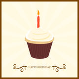 Happy Birthday With Cake Royalty Free Stock Image