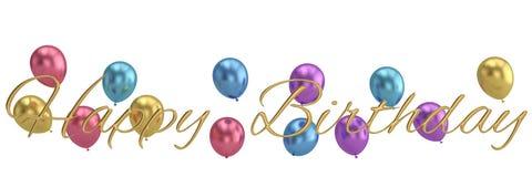 Happy Birthday words festive background 3D illustration. Happy Birthday words festive background 3D illustration stock illustration