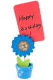 Happy birthday words Stock Image