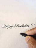 Happy birthday written