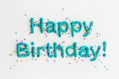 Happy birthday written in frosting royalty free stock photos