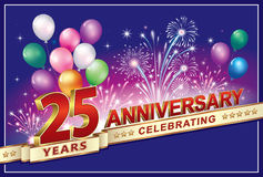 Happy birthday 25 years Royalty Free Stock Image