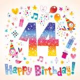Happy Birthday 14 years. Teen greeting card vector illustration