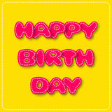 Happy Birthday yellow card in paper cut style Royalty Free Stock Photos