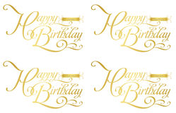 Happy birthday-zodiac Royalty Free Stock Photo