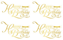 Happy birthday-zodiac Royalty Free Stock Images