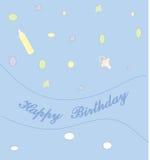Happy birthday2_1. Celebratory card with an inscription Happy birthday Stock Illustration