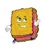 Happy biscuit cartoon Royalty Free Stock Photo