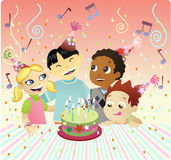 Happy Bithday Cake Stock Photo