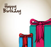 Happy bithday gifts Stock Images