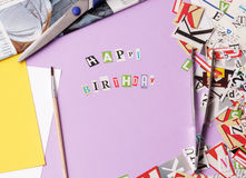 Happy bithday - ransom note style Royalty Free Stock Images