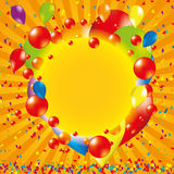 Happy bitrhday background. Happy bithday background with balloon Royalty Free Stock Image