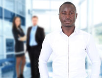 Happy black business man Stock Photo