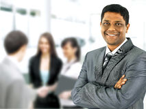 Happy black business man with people Royalty Free Stock Photography