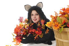 Happy Black Cat Teen Stock Photography
