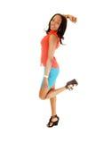 Happy black girl. Royalty Free Stock Photo