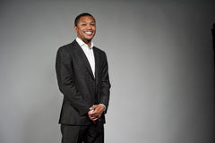 Happy Black Male In A Suit Royalty Free Stock Photos