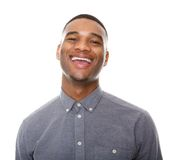 Happy black man laughing Royalty Free Stock Images