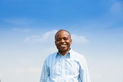 Happy black man with toothy smile Stock Photography