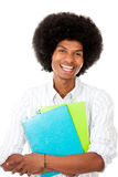 Happy black student Stock Photos