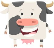 Happy black and white cow farm animal stock images