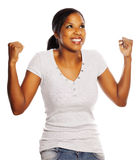 Happy black woman Stock Image