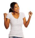 Happy black woman Stock Photography