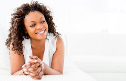 Happy black woman Stock Photos