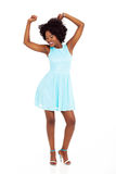 Black woman dancing Royalty Free Stock Photography
