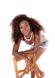 Happy black woman standing. Royalty Free Stock Photo