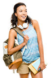 Happy black woman student going back to school Royalty Free Stock Photo