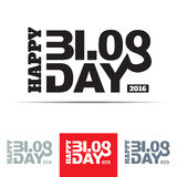 Happy Blog Day Sign Royalty Free Stock Photography