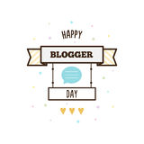 Happy blogger day. Vector illustration. Happy blogger day. Banner. Vector illustration Stock Image