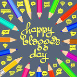 Happy Blogger day vector illustration. Royalty Free Stock Image