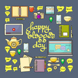 Happy Blogger day vector illustration. Stock Images